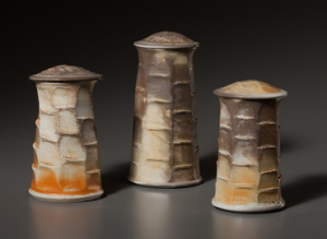 Shino Cannister set by Chapel Hill, NC-based potter, Deborah Harris